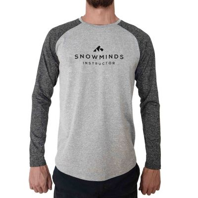 Active Instructor Shirt / Long sleeve running shirt - White/Grey - Unisex